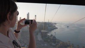 Cabografe a corda nas montanhas, Batumi, Geórgia vídeos de arquivo
