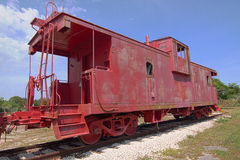 caboose κόκκινο Στοκ Φωτογραφία