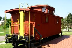 Caboose. For a train Royalty Free Stock Images