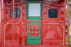 Caboose door Royalty Free Stock Image