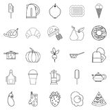 Caboose icons set, outline style. Caboose icons set. Outline set of 25 caboose vector icons for web isolated on white background Stock Photo
