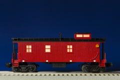 Caboose iluminado vermelho foto de stock royalty free