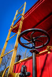 Caboose ladder and brake wheel Stock Images