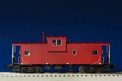 Caboose modèle rouge image libre de droits