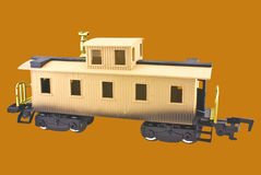 Caboose modelo del tren Imagen de archivo libre de regalías