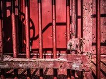 Caboose rojo viejo Fotos de archivo