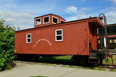 Caboose. Vintage Caboose in Skagway, Alaska Royalty Free Stock Photo