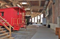 Cabooses en Carolina Transportation Museum del norte Foto de archivo libre de regalías