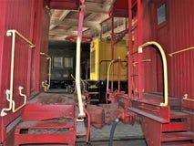 Cabooses en Carolina Transportation Museum del norte Imagenes de archivo