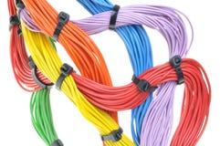Cabos bondes coloridos Fotos de Stock