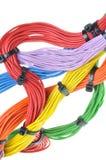 Cabos bondes coloridos Imagem de Stock