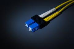 Cabos da fibra óptica Imagens de Stock Royalty Free