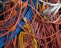 Cabos da rede Imagens de Stock