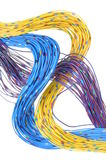 Cabos da rede de telecomunicação Fotos de Stock Royalty Free
