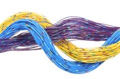 Cabos da rede de telecomunicação Fotografia de Stock