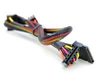 Cabos distribuidores de corrente da movimentação do disco rígido Imagem de Stock Royalty Free