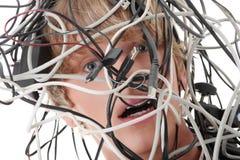 Cabos do computador Fotografia de Stock
