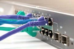 Cabos do Internet Imagens de Stock