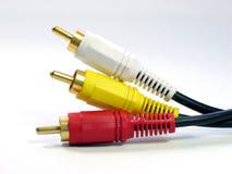 cabos do RCA-estilo A/V foto de stock royalty free