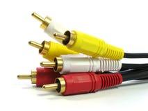 cabos do RCA-estilo A/V Fotografia de Stock Royalty Free