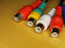 Conectores de RCA Fotografia de Stock Royalty Free
