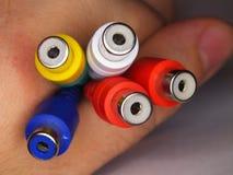 Conectores de RCA Foto de Stock