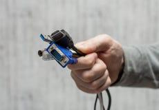 Cabos e conectores diferentes para conectar a um computador fotografia de stock royalty free