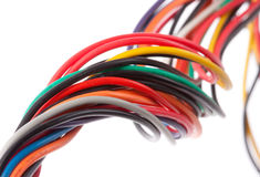 Cabos elétricos coloridos Fotografia de Stock Royalty Free