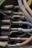 Cabos elétricos Mouldy. foto de stock