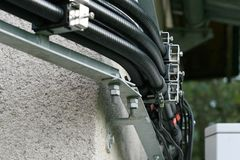 Cabos elétricos Foto de Stock