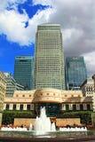 Cabot广场金丝雀码头伦敦英国 库存图片
