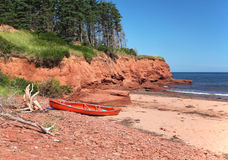 Cabot Beach Canoe Stock Photography