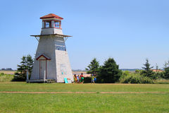 Cabot Beach lighthouse Royalty Free Stock Images