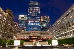 Cabot Square bei Canary Wharf Lizenzfreie Stockfotografie