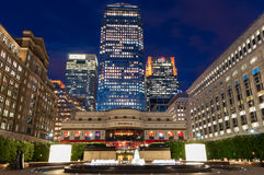 Cabot Square in Canary Wharf Royalty-vrije Stock Fotografie