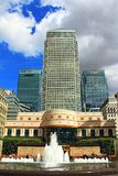 Cabot Square Canary Wharf London Royaume-Uni image stock