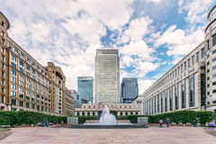 Cabot Square, Canary Wharf, London Royalty Free Stock Image