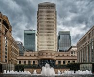 Cabot square in England Stock Images