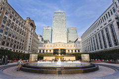Cabot Square In London, editorial Stock Photo