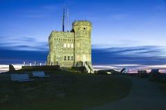Cabot Tower på signalkullen i St John royaltyfri foto