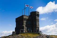 Cabot Tower på signalkullen i Sts John Newfoundland och labradoren Kanada arkivbilder