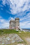 Cabot Tower on Signal Hill, St. John`s, Newfoundland Royalty Free Stock Photos
