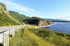 Cabot Trail. On Cape Breton Island in Nova Scotia Canada Royalty Free Stock Images