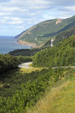 Cabot Trail. View of Cabot Trail from boat Cape Breton Island Nova Scotia Canada Royalty Free Stock Image