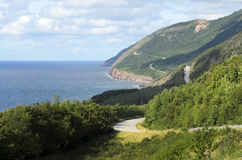 Cabot Trail. View of Cabot Trail from boat Cape Breton Island Nova Scotia Canada Royalty Free Stock Photography