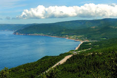 Cabot Trail in Cape Breton, Nova Scotia Royalty Free Stock Photos