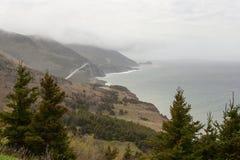 Cabot Trail e oceano Fotografia de Stock Royalty Free