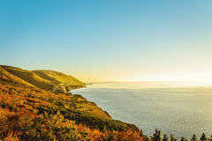 Cabot Trail in the fall Stock Image