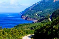 Cabot Trail Highway Arkivbild
