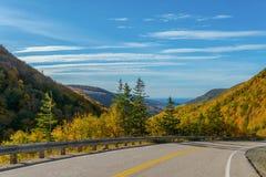 Cabot Trail Highway Imagen de archivo libre de regalías